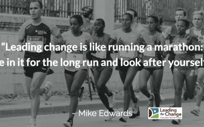 Change is like running a marathon