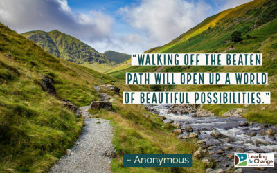 Get off the beaten path at times