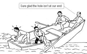 leaking boat