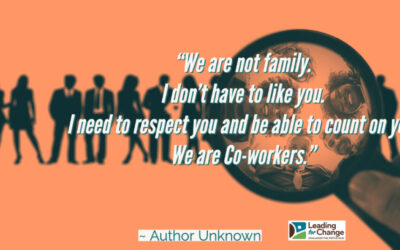 Thinking of your team as family is limiting