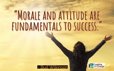 How do you improve morale?